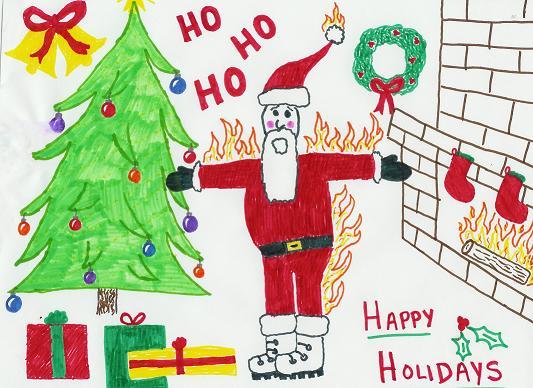 χριστουγεννιάτικη ζωγραφιά