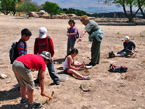 Kids Learning about Archaeology at Hazor