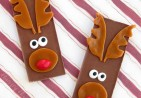 Rudolph the Red Nose Reindeer Hershey's Chocolate Bars, Christmas candy treats for kids, candy reindeer, kid's crafts copy