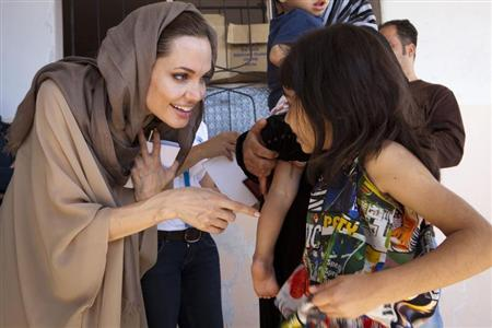UNHCR Special Envoy Angelina Jolie meets Syrian refugees in Lebanon