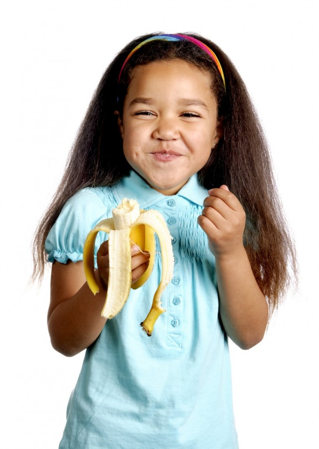 Girl Eating Banana
