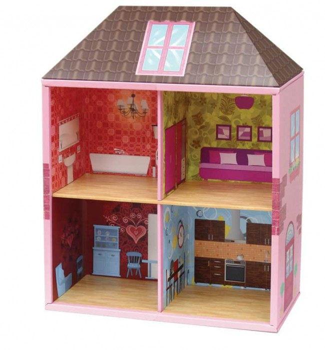 Recycled-cardboard-dollhouse