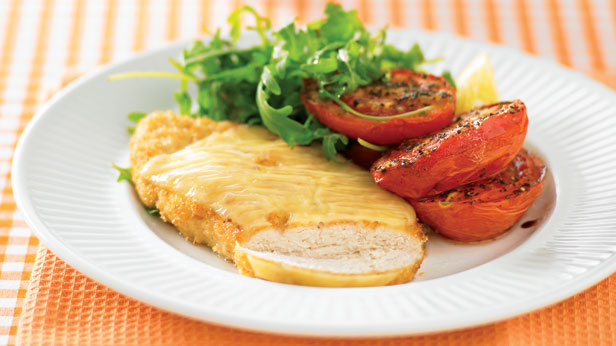 swiss-schnitzel-with-roast-tomatoes
