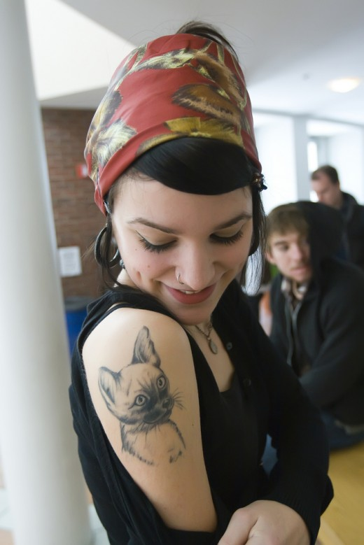 Cat Tattoo Designs For Cute Girls and Teens2