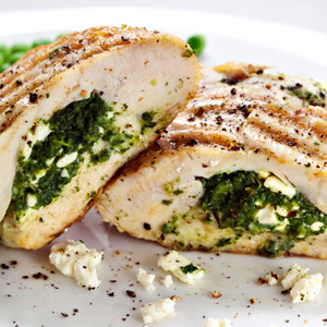 roasted-chicken-with-spinach-yogurt-pine-nuts-and-cheese