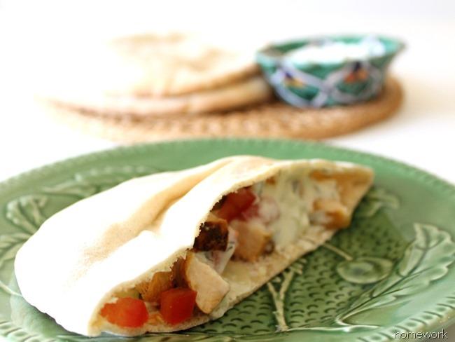 Chicken Pita & Greek Yogurt Sauce via homework (1)_thumb[21]