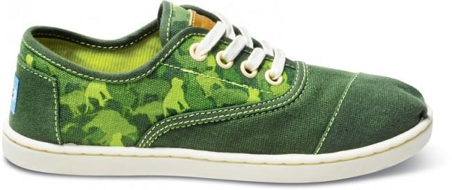 Green Animal Camo Youth Cordone