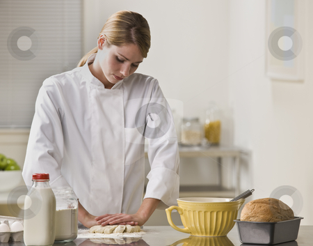 cutcaster-photo-100364839-Woman-Making-Pie