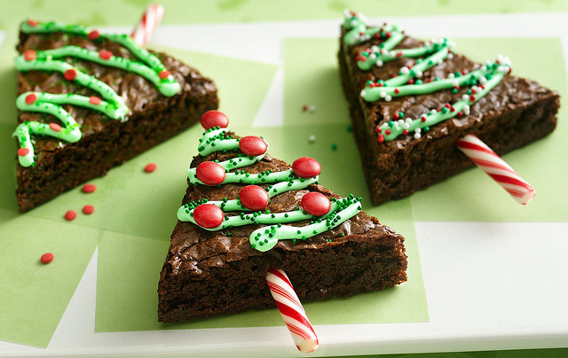 Xριστουγεννιάτικο δέντρο με brownie