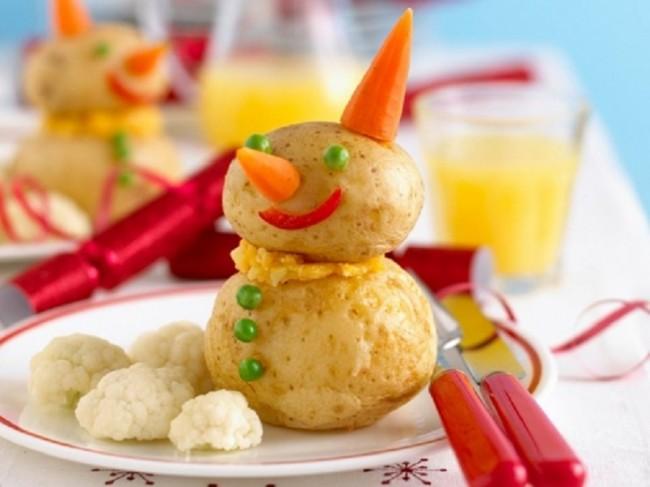 Baked Potato Snowman