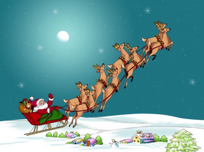 Santa_-reindeer