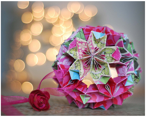 christmas ornaments origami ball