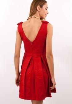 Άκρως γιορτινό είναι και αυτό το BSB αμπιρ mini φόρεμα τύπου ταφτά με χρυσό  τοπ 38ff4bb358e