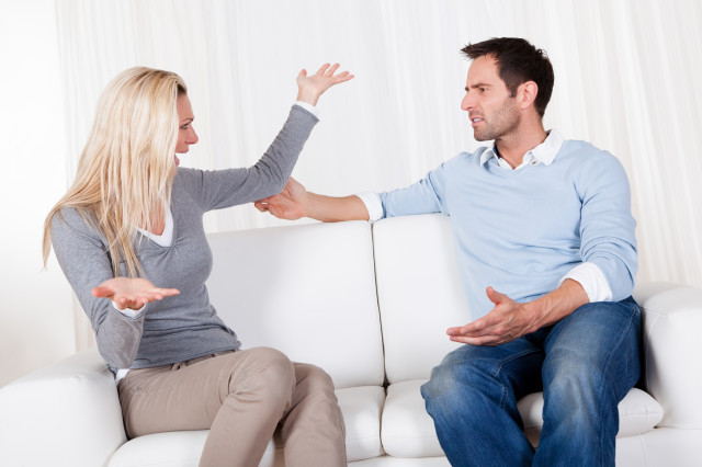 Couple have fallen out over a disagreement