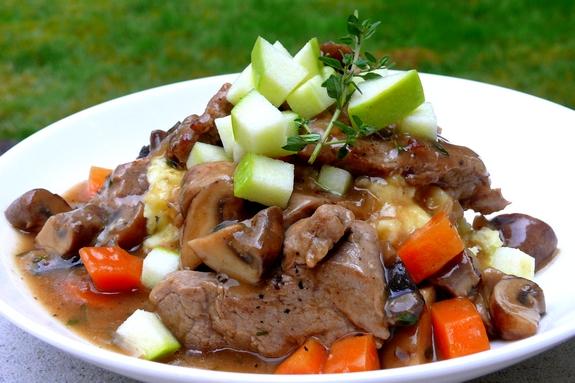 pork and mushroom stew
