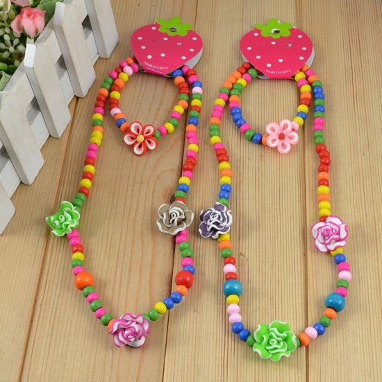 Fashion-Handmade-children-jewelry-sets-Kid-s-Flower-Necklace-products-Gift-Collocation-Baby-clothes-Free-shipping
