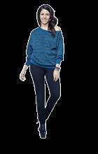 54414c746147 ... πλεκτή μπλούζα με ριχτή λαιμόκοψη τύπου ζιβάγκο με δύο χρώματα και  διακοσμητικά μεταλλάκια και τρουκς. Η τιμή της 22