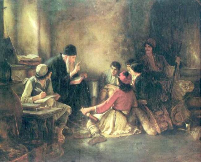 Ν. Γύζης, Το Κρυφό Σχολειό, Ιδ. συλλογή Πρ. Εμφιετζόγλου