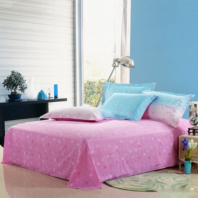 Fresh-Pink-and-Blue-Floral-Cotton-4-piece-Bed-in-a-bag-with-Sheet-Set-B0180-01