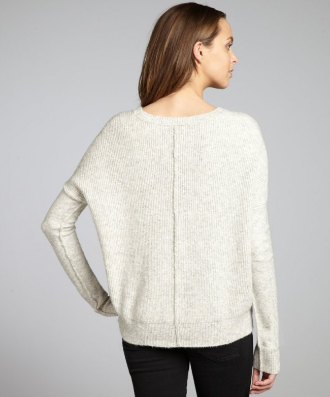 Line-women-s-seagull-cotton-wool-blend-The-Dome-waffle-sweater-3520-3