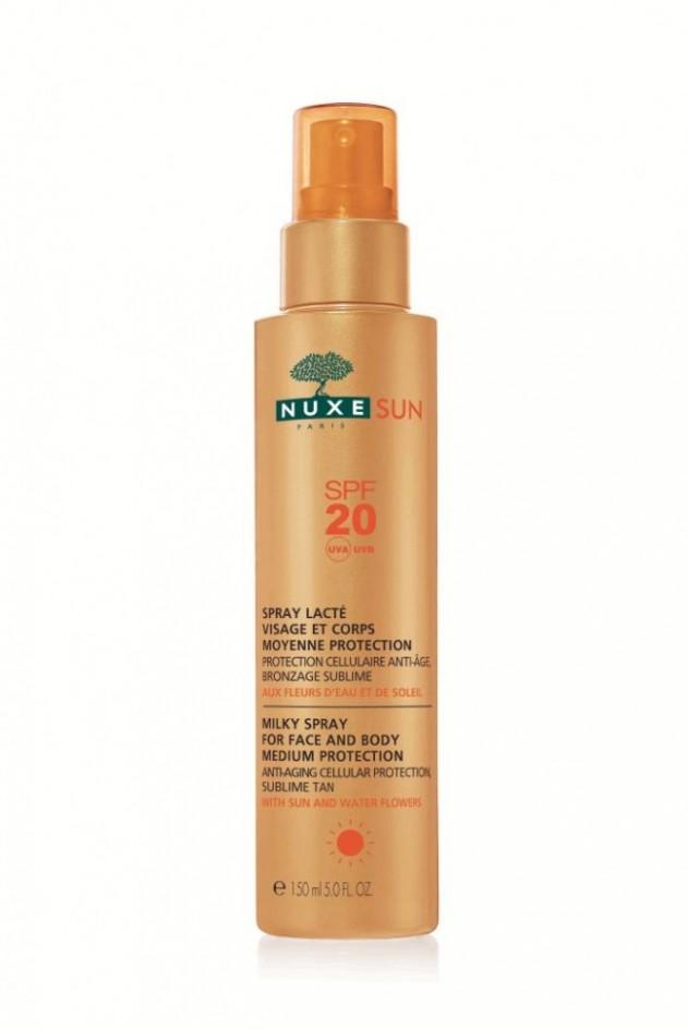 Spray Lacte Visage et Corps SPF 20 NUXE SUN L