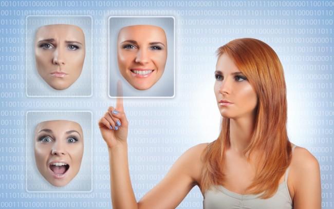 woman-choosing-happy-face