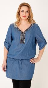 f7464130829 Τουνίκ κρεπ Mat Fashion, σε κίτρινο παστέλ χρώμα απ' το www.happysizes.gr.  Η τιμή της 55,20 ευρώ: