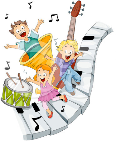 93645-royalty-free-rf-clipart-illustration-of-three-happy-kids-on-piano-keys-with-music-notes-and-instruments