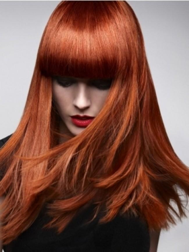 κόκκινα ίσια μαλλιά