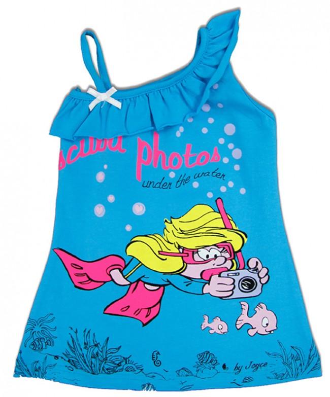 5d9382495ced Γαλάζιο μπλουζάκι με τη Στρουμφίτα, που είδαμε στο www.joyce.gr, έναντι 7  ευρώ: