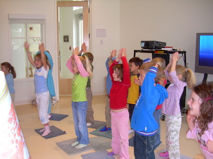 children dancing