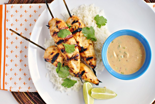 Thai-Chicken-Satay-Skewers-and-Peanut-Sauce