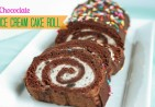 Chocolate Ice Cream Cake Roll
