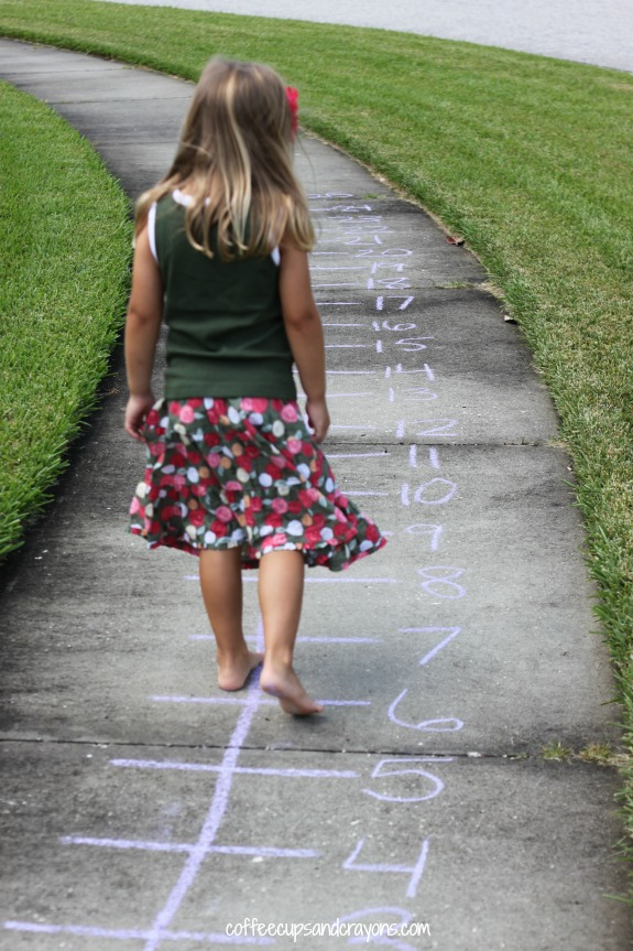 Practice-addition-on-an-outdoor-number-line