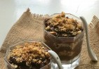 chocolate biscuit pudding eggless...