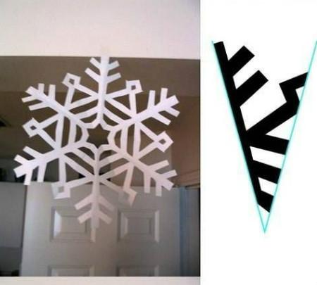 νιφάδες χιονιού από χαρτί