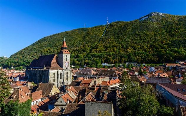 μεσαιωνική πόλη στη ρουμανία
