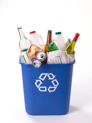 Mixed recycling bin