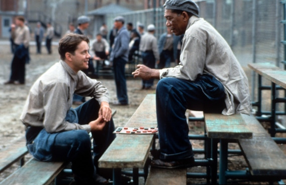 Tim Robbins And Morgan Freeman In 'The Shawshank Redemption'