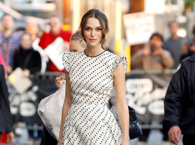 Keira Knightley is a polka dot cutie at 'Jimmy Kimmel Live' - Part 2