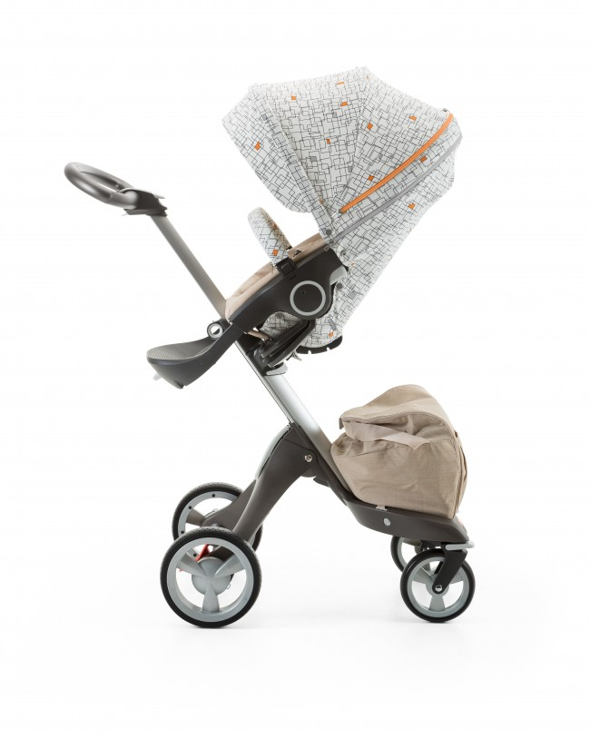145a9bc6e62 Stokke Stroller Seat Style Kit Grid with Xplory chassis 141022-9411 Beige  Melange