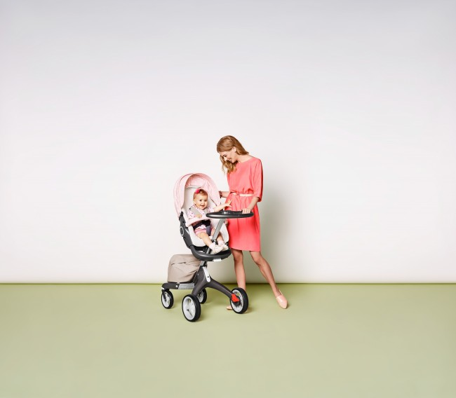 8b227317049 Stokke Stroller Summer Kit Scribble Faded Pink with Xplory Chassis  141113-0586 Beige Melange