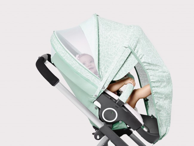 cf8948baac6 Stokke Stroller Summer Kit Scribble Salty Blue with Crusi Chassis  141113-0767