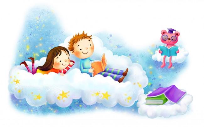 bear-storytelling-cloud-kids-desktop-free