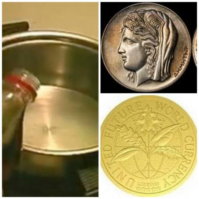 παλιό νόμισμα, καθαρό νόμισμα και κόκα κόλα