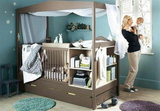 7d9b083af16 Αν σκοπεύετε να βάλετε το μωρό στο δικό του δωμάτιο σύντομα, σκεφτείτε αυτή  τη λύση. Έχει τα πάντα ενσωματωμένα, την αλλαξιέρα, τη συρταριέρα, ...