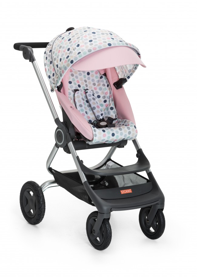 Stokke Scoot Soft Pink with Style Kit Soft Dots 141128-2576