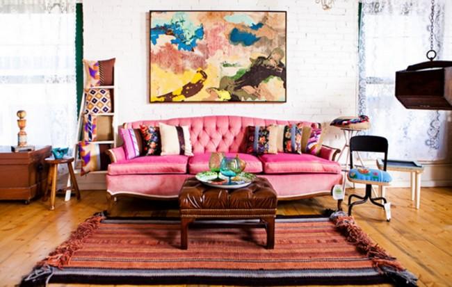 Boho-Pink-Living-Room