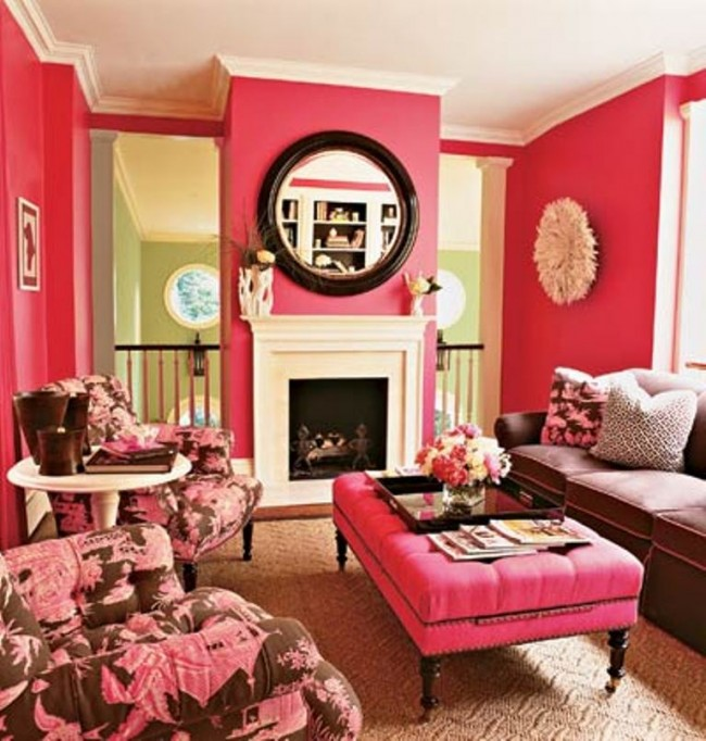 Chic-Pink-Living-Room