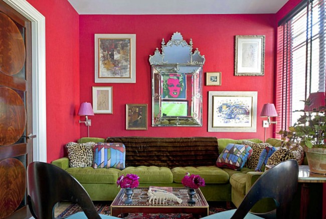 Eclectic-Chic-Pink-Living-Room